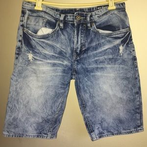 Ripped/Bleached Jean Shorts